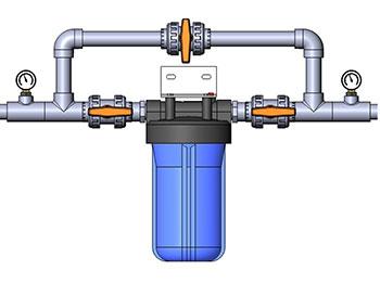 Подключение магистрального фильтра воды bb10 к водопроводу